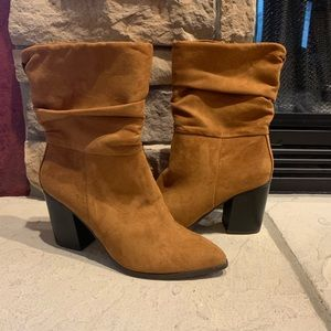 Apt 9 Faux Suede Brown High Heel Boots